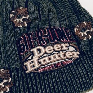 Larry the Cable Guy Accessories - Deer Hunter Beanie Green Git R Done Hat Cap